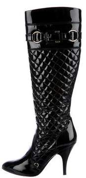 Burberry Quilted Patent Leather Boots