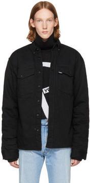 Gosha Rubchinskiy Black Faux-Shearling Denim Jacket