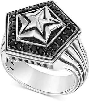 Scott Kay Men's Black Sapphire Star Ring (1-1/4 ct. t.w.) in Sterling Silver