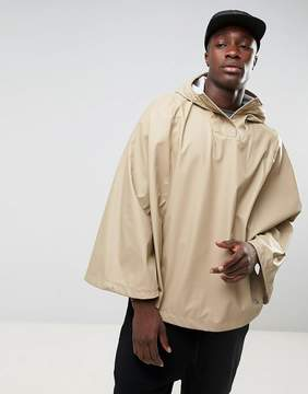 Herschel Forecast Waterproof Poncho in Beige