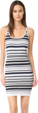 Autumn Cashmere Striped Rib Dress