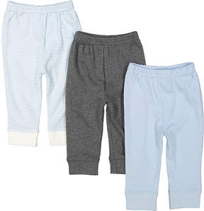 Luvable Friends Gray & Blue Jogger Set - Newborn & Infant