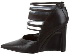 Derek Lam Meryl Leather Wedge Booties