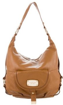 MICHAEL Michael Kors Grained Leather Hobo - BROWN - STYLE