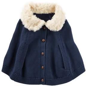 Osh Kosh Baby Girl Sweater Poncho Cape