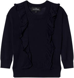 Little Remix Navy Ruffle Sweater