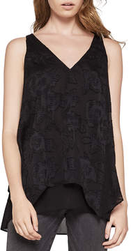 BCBGeneration Double-Layer Floral Tank Top