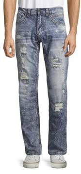 Affliction Distressed Straight Jeans