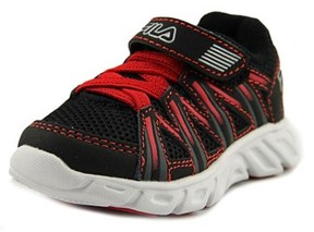 Fila Crater 7 Strap Toddler Round Toe Synthetic Black Walking Shoe.