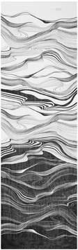 St. John Brush Stroke Print Silk Georgette Scarf