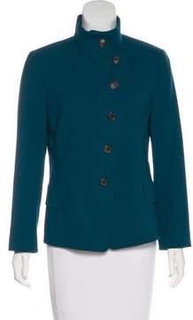 Akris Wool Button-Up Blazer