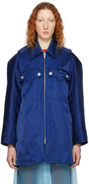Calvin Klein Blue Western Detail Coat