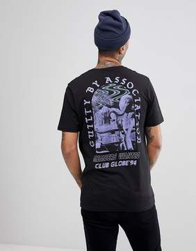 Globe T-Shirt With Guilty Back Print In Black