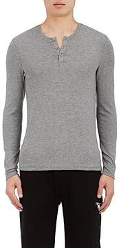 ATM Anthony Thomas Melillo Men's Rib-Knit Long-Sleeve Henley