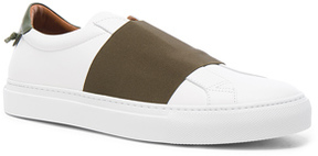 Givenchy Leather Skate Elastic Sneakers in White.