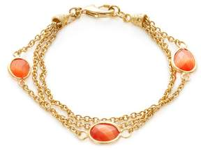 Rivka Friedman Women's Triple Row Orange Cat's Eye Crystal Station Bracelet