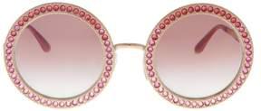 Dolce & Gabbana DG2170B 129880 Pink Gold Round Sunglasses