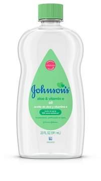Johnson's Baby Oil Aloe Vera and Vitamin E - 20.0 oz.