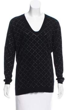 Allude Embellished Wool-Cashmere Sweater