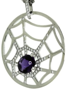 Chaumet 18K White Gold with Amethyst and Diamond Necklace