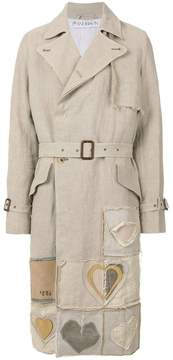 J.W.Anderson heart-appliquéd trench coat