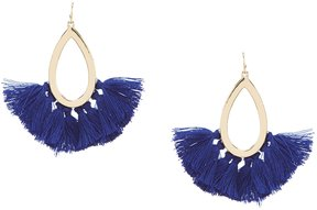 Anna & Ava Abigail Tasseled Teardrop Statement Earrings