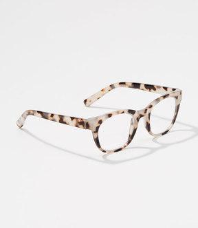 LOFT Tortoiseshell Print Square Reading Glasses