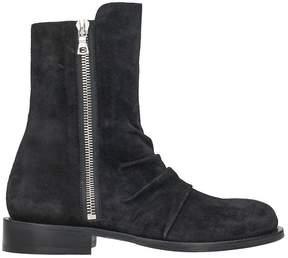 Amiri Stack Black Suede Boot