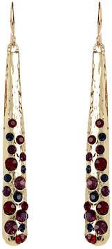 Amrita Singh Red Austrian Crystal & Goldtone Cleo Drop Earrings