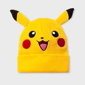Pokemon Boys' Pikachu Beanie with Ears - Yellow
