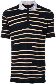 Nuur striped patterned polo shirt