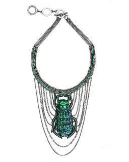 Forest of Chintz Swinging Scarab Necklace