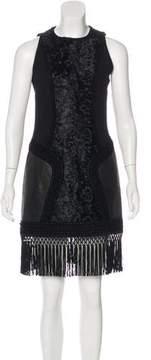 Andrew Gn Fringe-Trimmed Sheath Dress