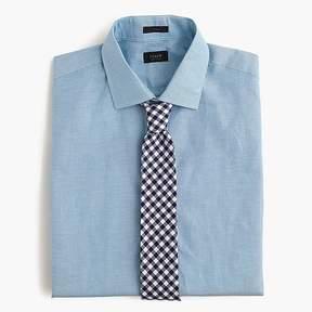 J.Crew Crosby Irish cotton-linen shirt in blue stripe