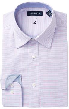 Nautica Mini Check Regular Fit Dress Shirt