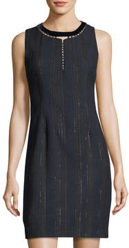 T Tahari Cambria Striped Sheath Dress