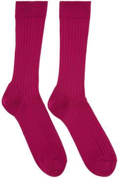 Robert Geller Pink Konstantin Socks
