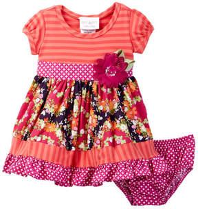 Iris & Ivy Stripe to Floral Dress (Baby Girls 0-9M)