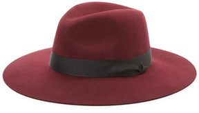 Saks Fifth Avenue Women's Wool Fedora with Ribbon Trim
