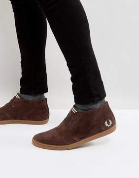 Fred Perry Byron Mid Suede Sneakers in Brown
