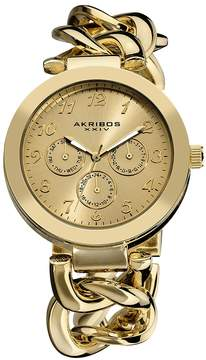Akribos XXIV Gold-tone Ladies Watch AK644YG