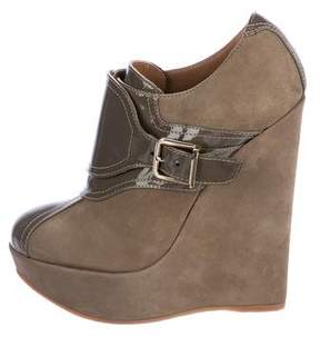DSQUARED2 Suede Wedge Ankle Boots