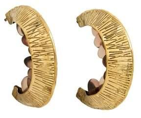 Violeta BY MANGO Bead hoop earrings
