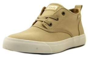 Keds Triumph Mid Women Round Toe Canvas Tan Sneakers.