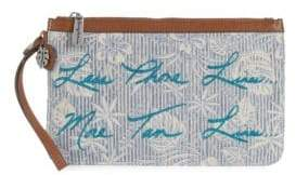 Tommy Bahama Floral Embroidered Pouch