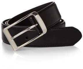 River Island Mens Black leather look belt