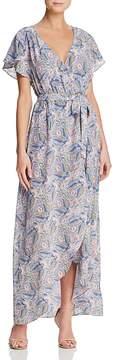 Ella Moss Faux-Wrap Floral-Print Maxi Dress
