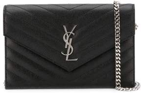 Saint Laurent 'Monogram' crossbody bag - BLACK - STYLE