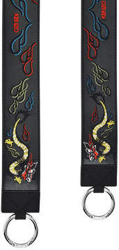 Kenzo Embroidered Leather Shoulder Strap