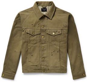 Fear Of God Paint-Splattered Selvedge Denim Jacket